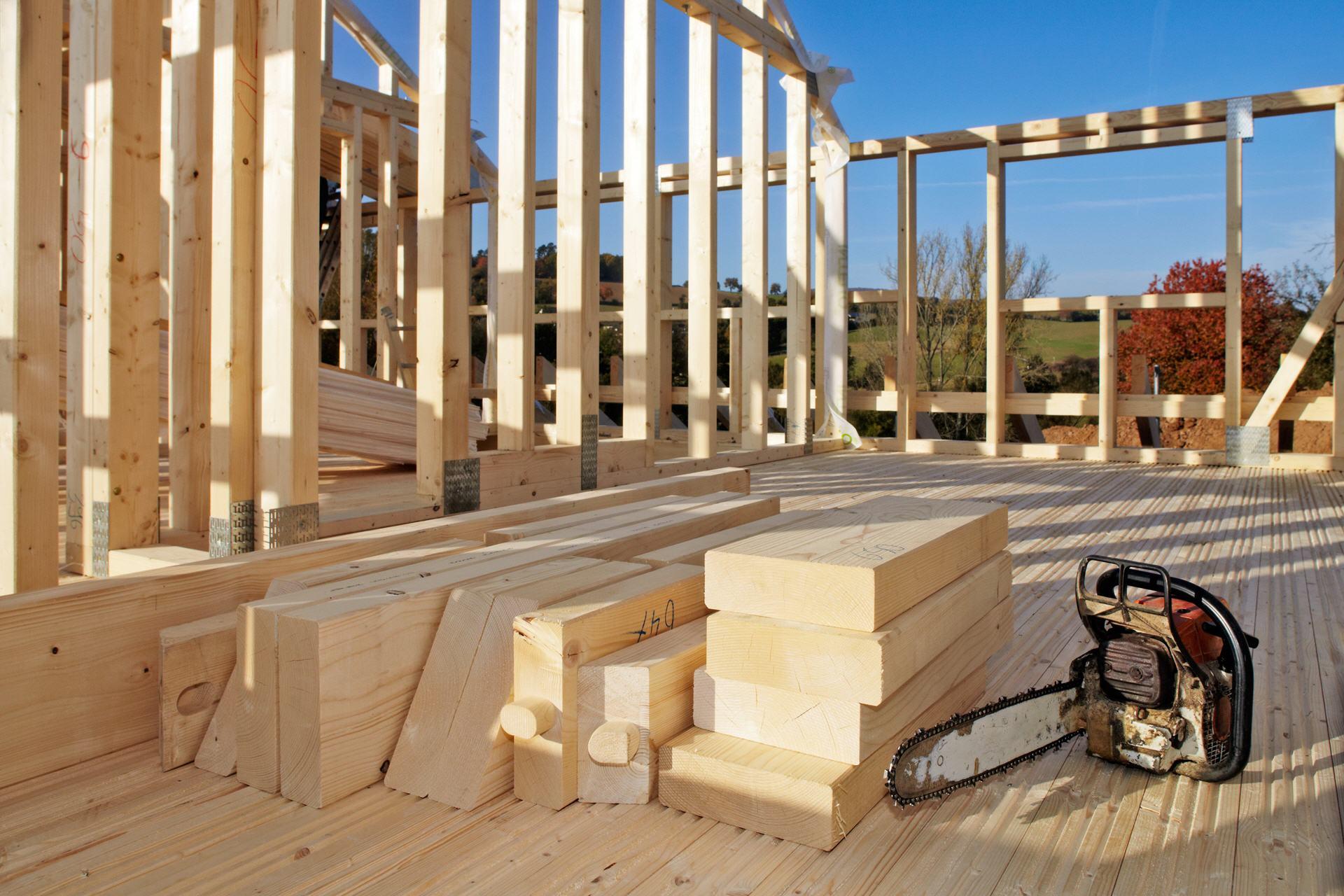 Holzständer Bauweise
